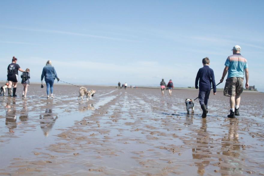 Crossing the sands to Piel Island (Film Still) - Walney Island, Barrow-in-Furness, Morecambe Bay. 2018.